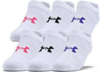 Under Armour Girl's Essential alacsony gyerek szárú zokni (6 pár/darab) fehér