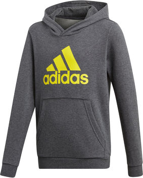 adidas YB LOGO Hoodie gyerek kapucnis felső szürke