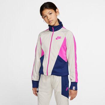 Nike Heritage lány cipzáras felső fehér