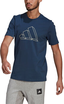 adidas  M FI GFX TEEférfi póló kék
