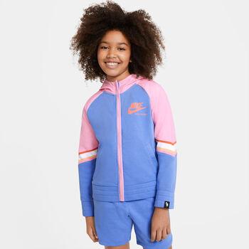 Nike G NSW Heritage FZ lány kapucnis kabát kék