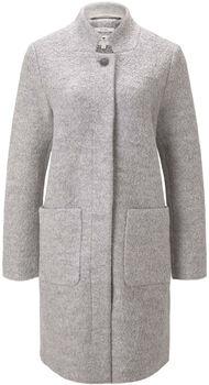 TOM TAILOR Boucle női kabát Nők szürke