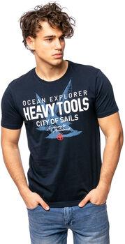 Heavy Tools Madanes férfi póló Férfiak kék
