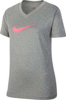 Nike G NK DRY lány póló szürke