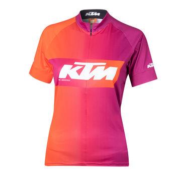 KTM Factory női kerékpáros mez Nők rózsaszín