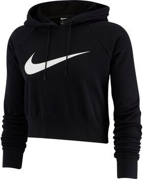 Nike Swoosh Cropped French Terry Hoodie női kapucnis felső Nők fekete