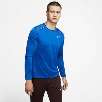 Nike Dri-FIT Miler LS férfi hossú ujjú futópóló Férfiak kék