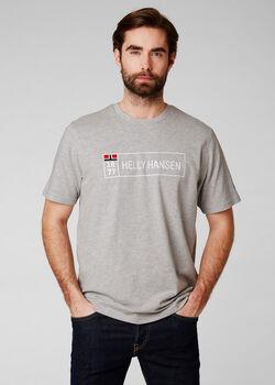 Helly Hansen 1877 férfi rövidujjú póló Férfiak szürke