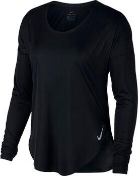 Nike W City Sleek női hosszú ujjú futópóló Nők fekete