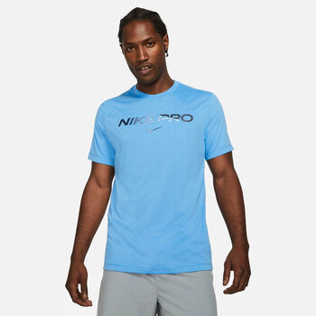 Nike Pro férfi póló Férfiak kék