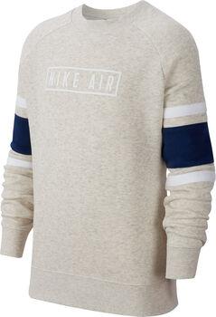 Nike B Nk Air Ls Crew gyerek pulóver törtfehér