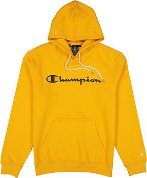 Champion Hooded Sweatshirt férfi kapucnis felső Férfiak narancssárga