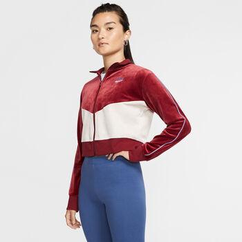 Nike Heritage Plush női cipzáras felső Nők piros