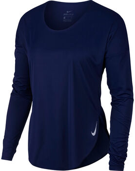 Nike W City Sleek női hosszú ujjú futópóló Nők kék