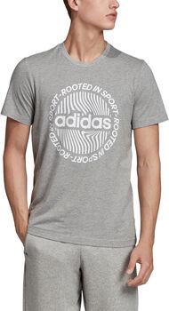adidas M CRCLD GRFX T Férfiak szürke