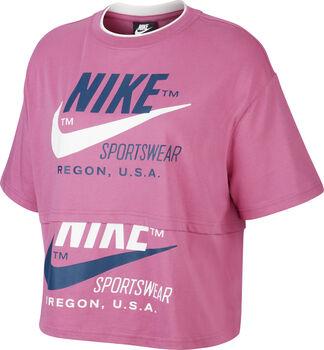 Nike W NSW ICNCLSH SS női póló Nők rózsaszín