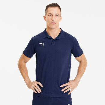 Puma teamGOAL 23 Casuals férfi galléros póló Férfiak kék