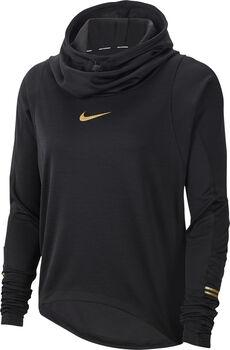Nike Top Ls Glam Midlayer női hosszúujjú felső Nők fekete