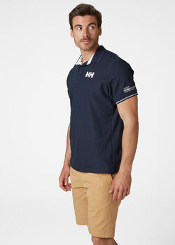 Helly Hansen HP Shore férfi galléros póló Férfiak kék