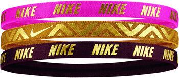 Nike  Metallic Hairband 3PK Férfiak rózsaszín