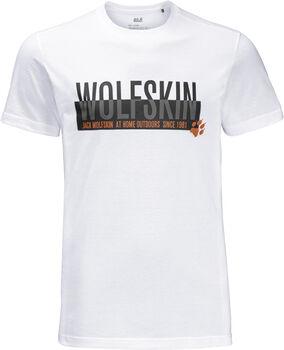 Jack Wolfskin Slogan férfi póló Férfiak fehér
