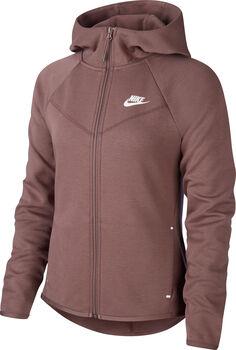 Nike NSW TCH FLC WR HD FZ  női kapucnis felső Nők barna