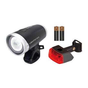 SIGMA Lightster + Cuberider ll LED kerékpáros lámpa szett törtfehér