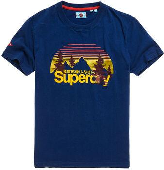 Superdry  Cl Wilderness Teeférfi póló Férfiak kék