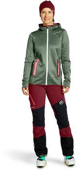 ORTOVOX Fleece Hoody W női fleece kabát Nők zöld