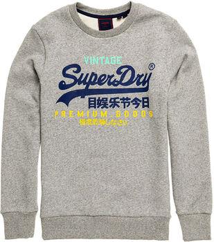 Superdry Vl Tri Crew férfi pulóver Férfiak fehér