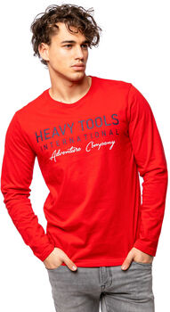 Heavy Tools Canop férfi póló Férfiak piros