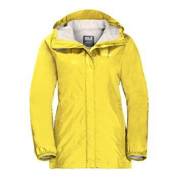 Jack Wolfskin Cloudburst W női outdoor kapucnis kabát Nők sárga