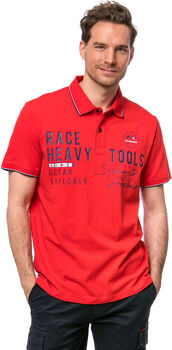 Heavy Tools Duzzon férfi galléros póló Férfiak piros