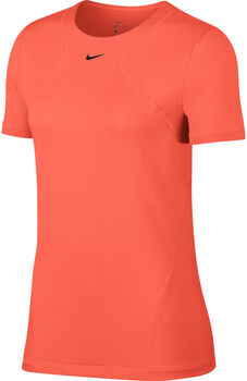 Nike Pro Short-Sleeve Mesh Training Top Nők narancssárga