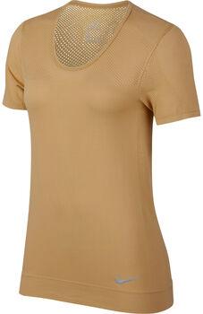Nike Infinite Short-Sleeve Running Top Nők sárga