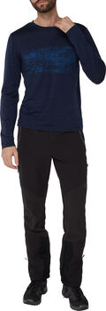 McKINLEY M-TEC Curra férfi hosszú ujjú póló Férfiak kék
