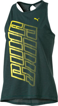 PUMA Twist It Logo Tank Nők zöld