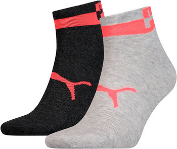 Puma Men Quarter 2P férfi zokni (2 db/csomag) Férfiak szürke