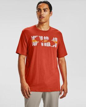 Under Armour Multicolor Repeat férfi póló Férfiak narancssárga