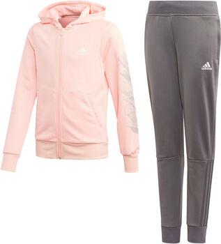 adidas Hooded Polyester lány melegítő rózsaszín