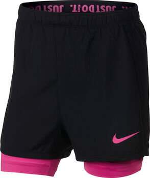 Nike Dri-FIT Big Kids' 2-in-1 lány rövidnadrág fekete