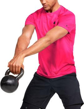 Under Armour Rush™ HeatGear® Fitted Printed férfi póló Férfiak rózsaszín