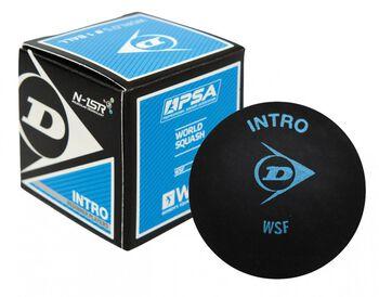 Dunlop  Intro squash labdakezdőknek, 12% nagyobb, fekete