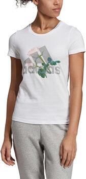 adidas W MH Flower Tee női póló Nők fehér