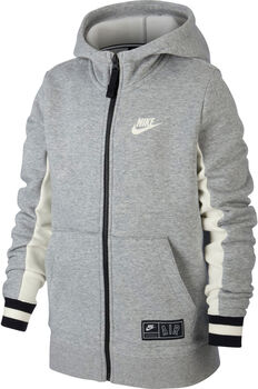 Nike Air Big Kids' Full-Zip Hoodie Fiú szürke