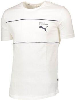 Puma Graphic Tee 2 férfi póló Férfiak fehér