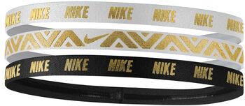 Nike  Metallic Hairband 3PK Férfiak fehér