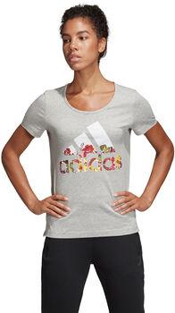 adidas BOS Flower Tee női póló Nők szürke