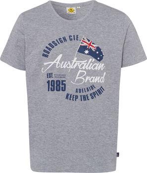 Roadsign Logo Australian férfi póló Férfiak szürke