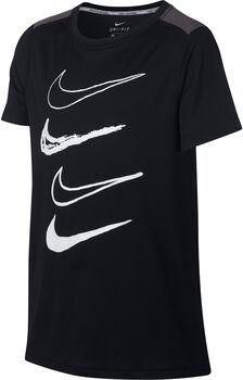 Nike B Dri-FIT Top Graphic gyerek póló fekete